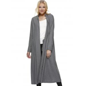 Fitting Shirt Collar Long Sleeve Trench Coat -