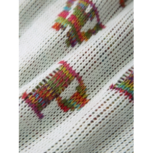 Warmth Colorful Letters Pattern Knitting Mermaid Shape Blanket -