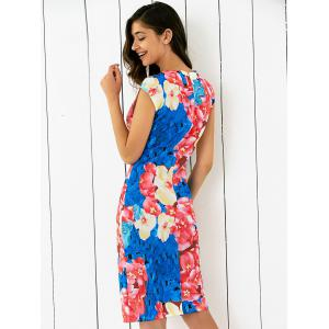 Abstract Floral Printing Skinny Dress -