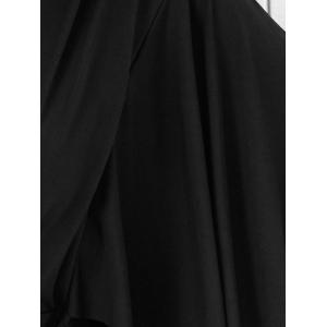 Batwing Sleeve Low Cut Maxi Dress -