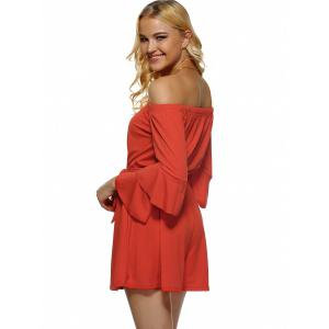 Off-The-Shoulder Flounced Flare Sleeves Romper -