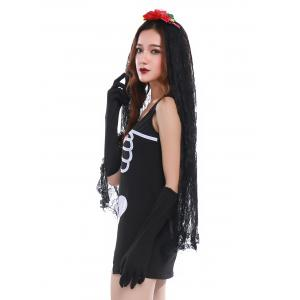 Skeleton Print Mini Bodycon Hallowmas Cosplay Costume -