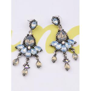 Rhinestone Water Drop Party Jewelry Earrings -