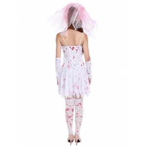 Blood Print Spaghetti Strap Hallowmas Cosplay Costume -