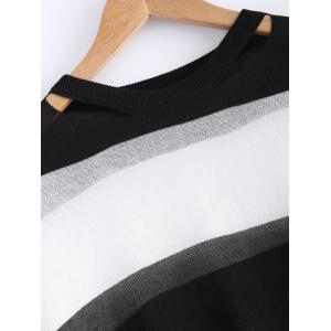 Color Block Thick Striped Sweater -