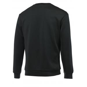 Figure and Camouflage Print Round Neck Long Sleeve Sweatshirt For Men - BLACK 2XL