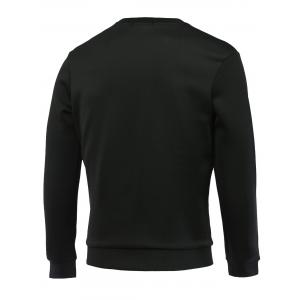 Elephant and Letter Print Round Neck Long Sleeve Sweatshirt For Men -