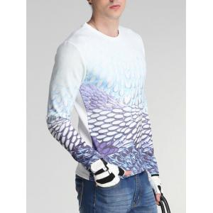 Ombre Drops Print Round Neck Long Sleeve Sweatshirt -
