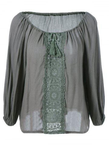 Shops Loose-Fitting Ethnic Style Long Sleeves Blouse