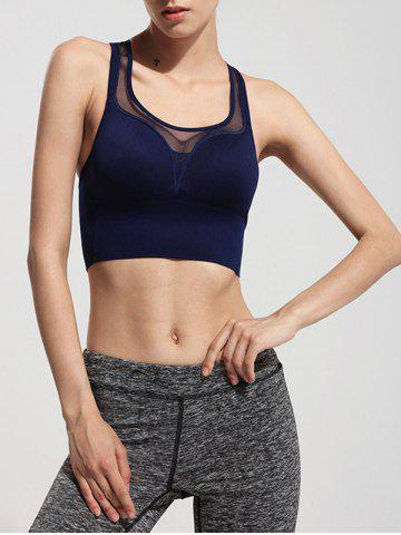 Racerback Mesh See Through Sports Bra