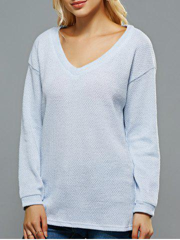 Store V Neck Loose-Fitting Sweater