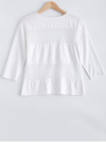 Cheap Lace Patched Tee