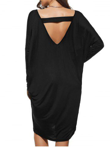 Outfit Loose Backless Dress BLACK ONE SIZE