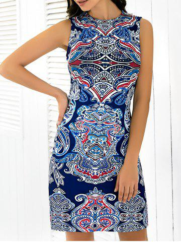 Affordable Abstract Printing Sleeveless Skinny Dress