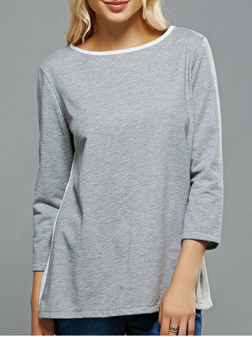 Sale Chiffon Panel Bowknot T-Shirt