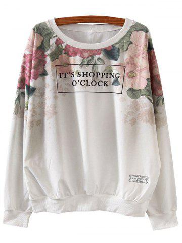 Hot Letter Print Loose Sweatshirt