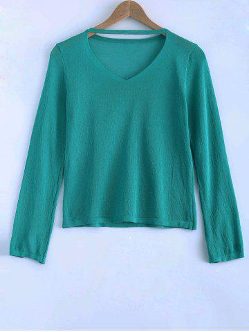 Sale Long Sleeves Hollow Out Sweater