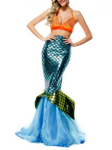 Chic Sequin Maxi Mermaid Cosplay Costume