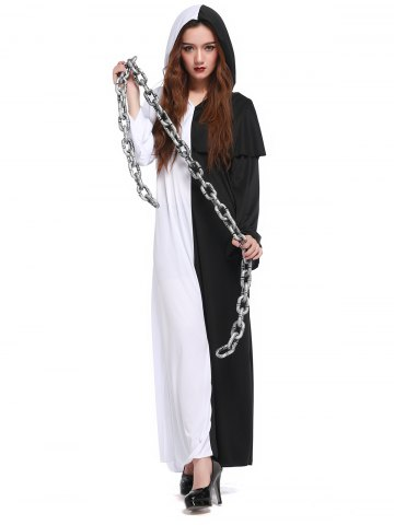 Shops Hooded Color Block Maxi Hallowmas Dress