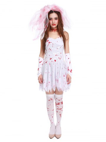 Best Blood Print Spaghetti Strap Hallowmas Cosplay Costume
