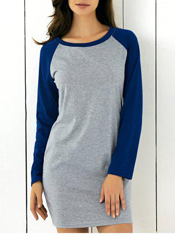 Shops Long Sleeve Patched Dress