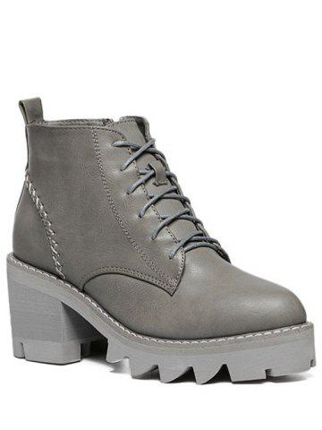 New Platform Lace Up Ankle Boots
