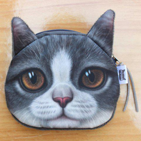 Sale Original Creative Lifelike Cat Coin Bag - GRAY  Mobile