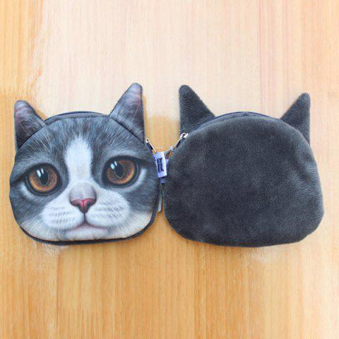 Online Original Creative Lifelike Cat Coin Bag - GRAY  Mobile