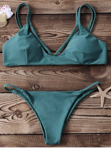 Sale High-Cut Strappy Two Piece Bikini Set