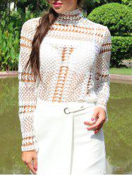 Lace Crochet Embroidery Blouse