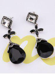 Rhinestone Cross Geometric Water Drop Earrings
