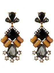 Faux Crystal Rhinestone Water Drop Earrings