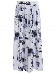 High Waisted Printed Dressy Palazzo Capri Pants -