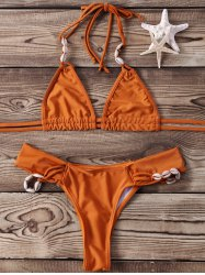 Shell Halter Two Piece Bikini Set -