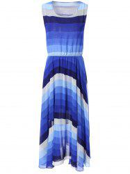 Bohemian Ombre Color Chiffon Maxi Dress -