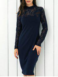 Lace Panel Club Dress