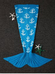 Warmth Anchor Design Knitting Mermaid Tail Shape Blanket -