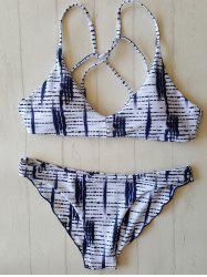 Print Strappy Bathing Suit