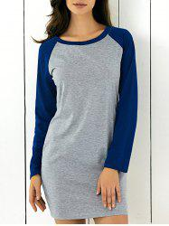 Long Sleeve Patched Dress -