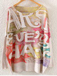 Initial plus size Graphic Sweaters -