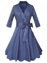 Shirt Coat Wrap Dress With Belt