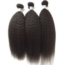 1Pcs 5A Remy Kinky Straight Indian Hair Weave -