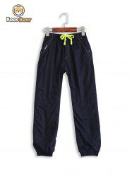Casual Pocket Design Drawstring Thicken Kid's Pants -