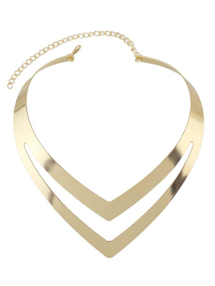 Outfit V Shape Hollow Out Necklace