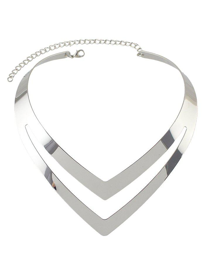 New V Shape Hollow Out Necklace