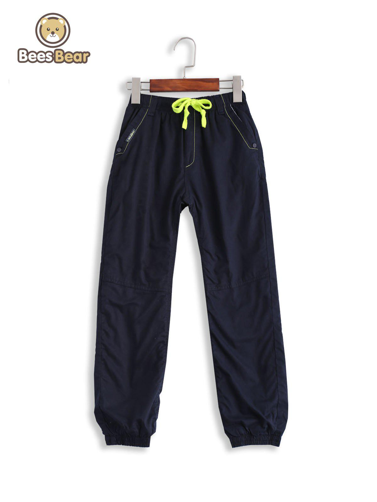 Unique Casual Pocket Design Drawstring Thicken Kid's Pants