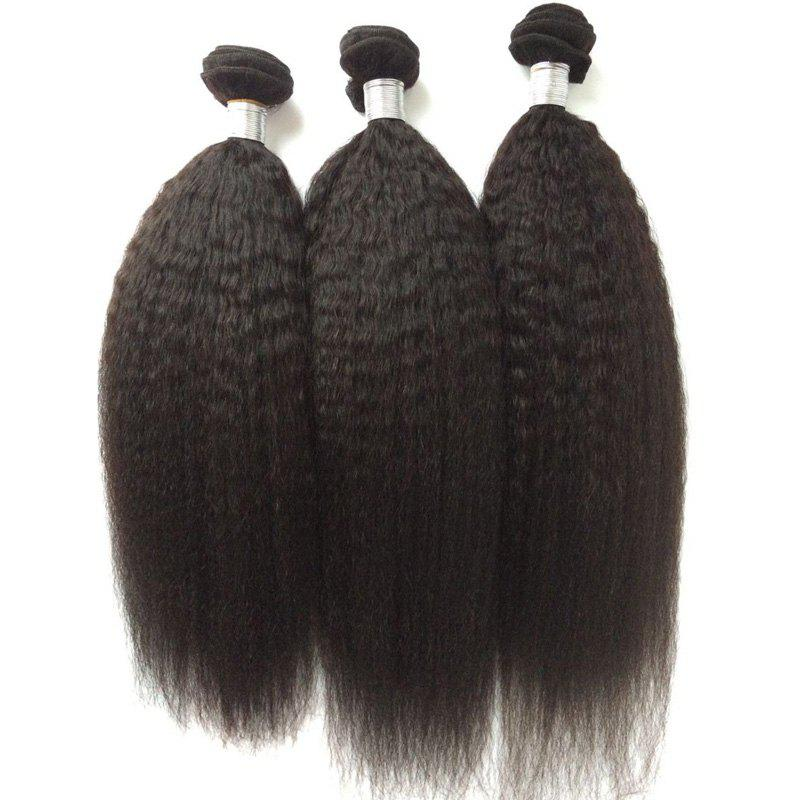 Fancy 1Pcs 5A Remy Kinky Straight Indian Hair Weave