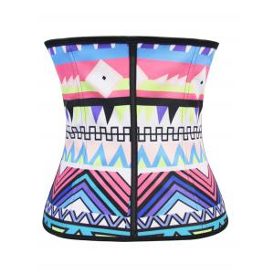 Personalized Geometric Colorful Print Underbust Corset Top