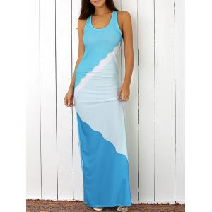 Racerback Shirred Casual Maxi Tank Dress