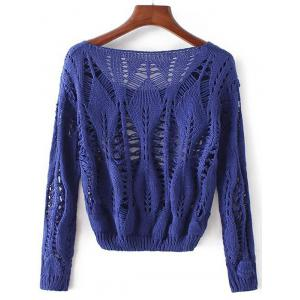 Openwork Long Sleeves Pullover Knitwear -